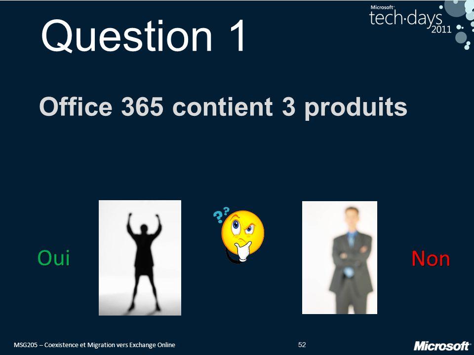 Office 365 contient 3 produits