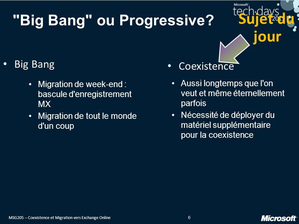 Big Bang ou Progressive