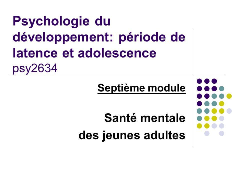 Septième module Santé mentale des jeunes adultes