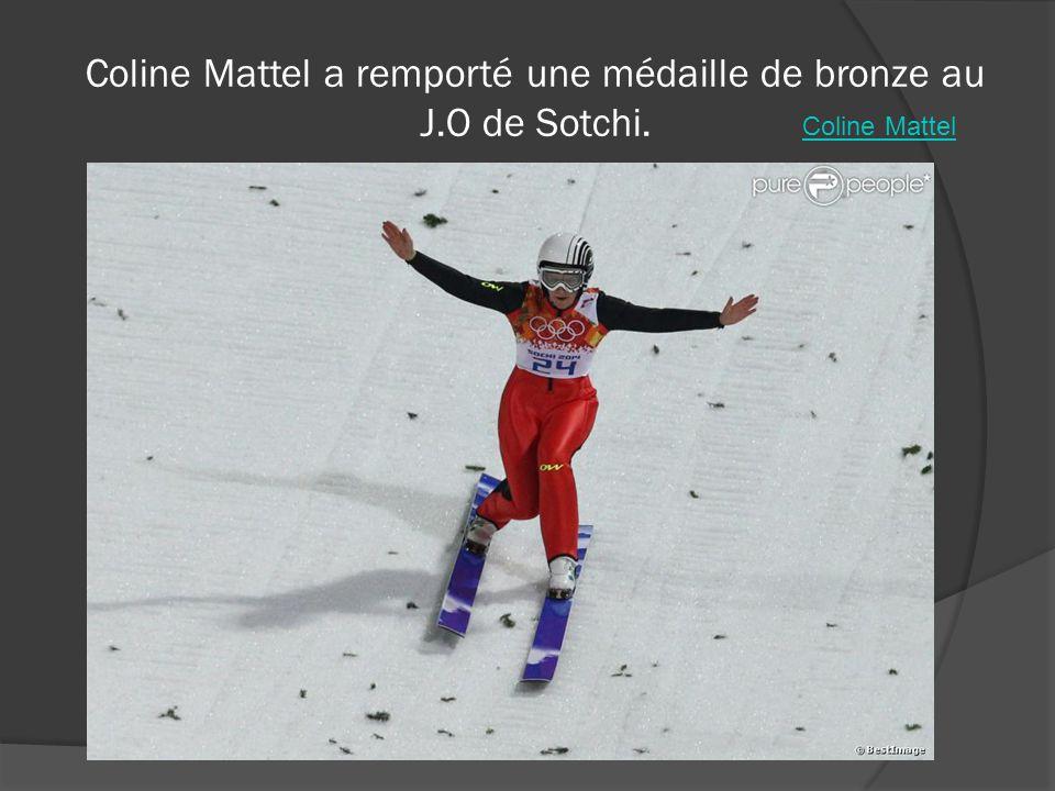 Coline Mattel a remporté une médaille de bronze au J.O de Sotchi.