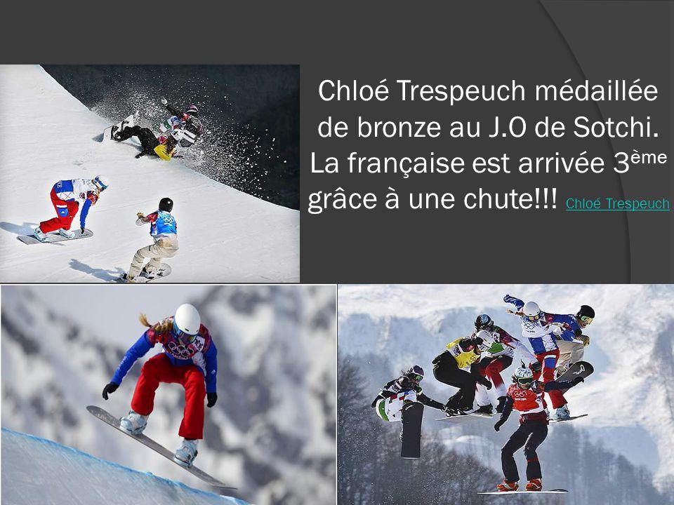 Chloé Trespeuch médaillée de bronze au J. O de Sotchi