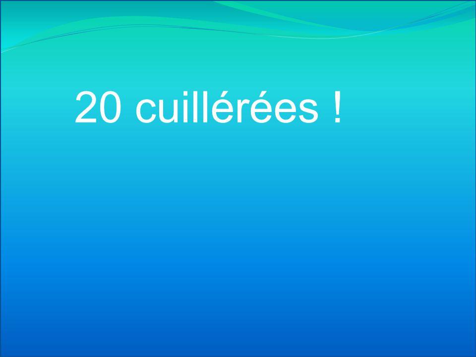 20 cuillérées !
