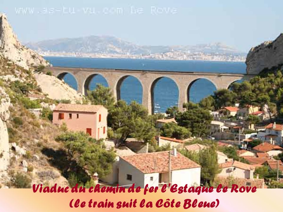 Viaduc du chemin de fer l Estaque le Rove (le train suit la Côte Bleue)