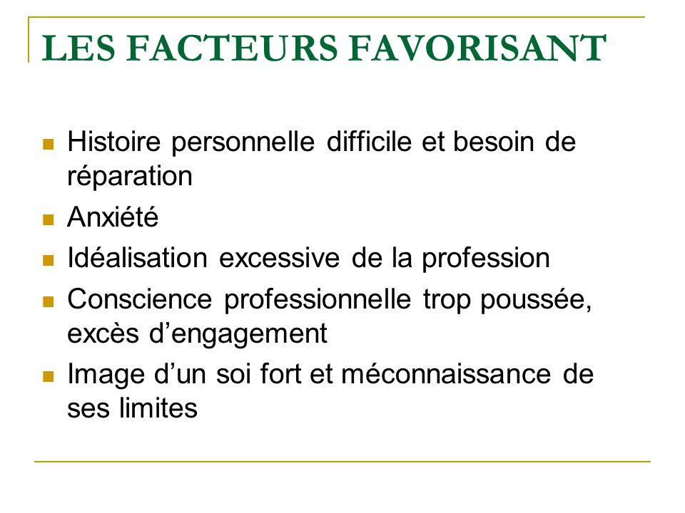 LES FACTEURS FAVORISANT