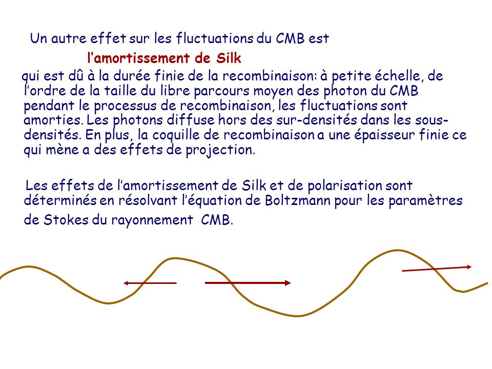 Un autre effet sur les fluctuations du CMB est