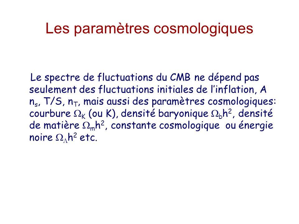 Les paramètres cosmologiques