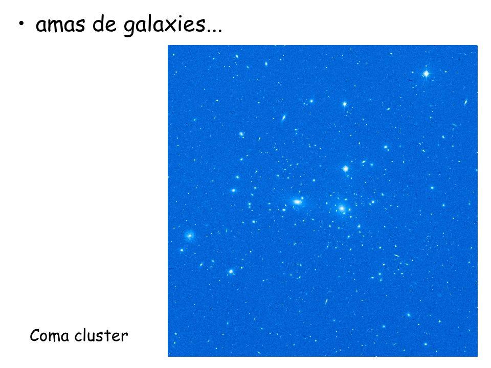 amas de galaxies... Coma cluster