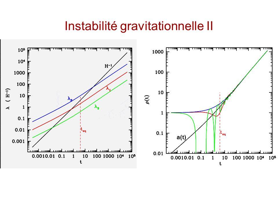 Instabilité gravitationnelle II