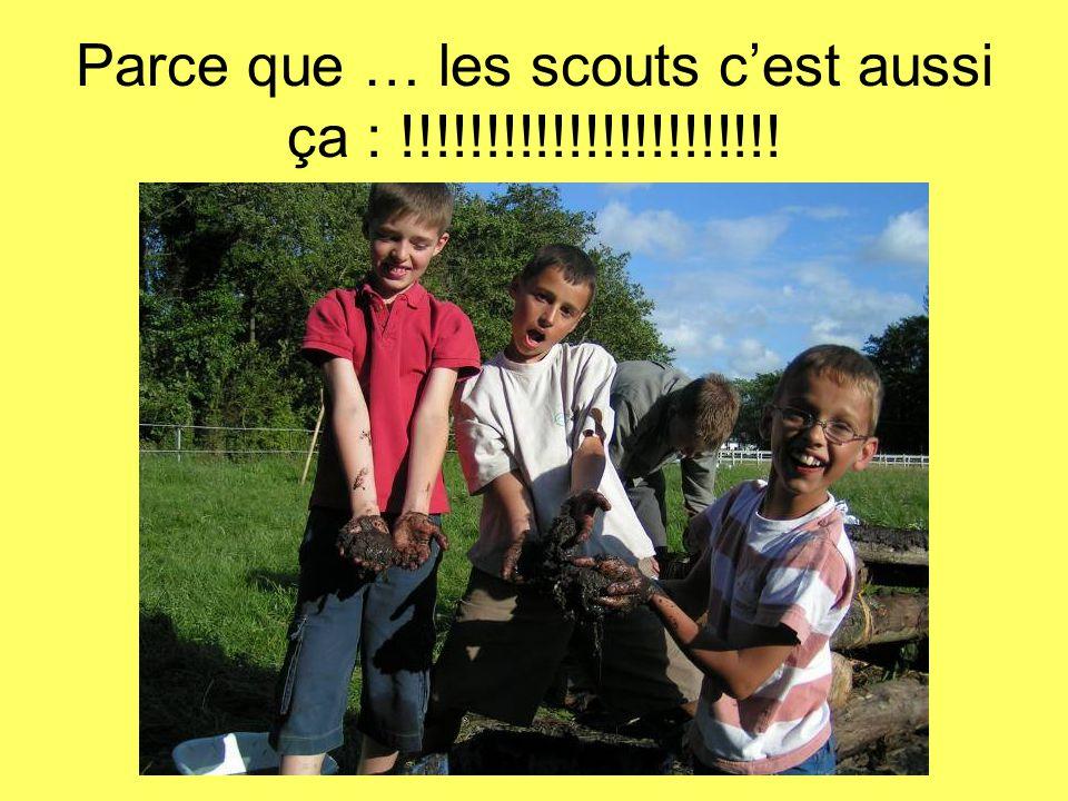 Parce que … les scouts c'est aussi ça : !!!!!!!!!!!!!!!!!!!!!!!