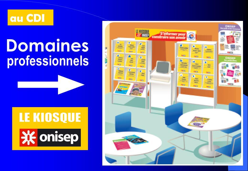 Domaines professionnels au CDI LE KIOSQUE