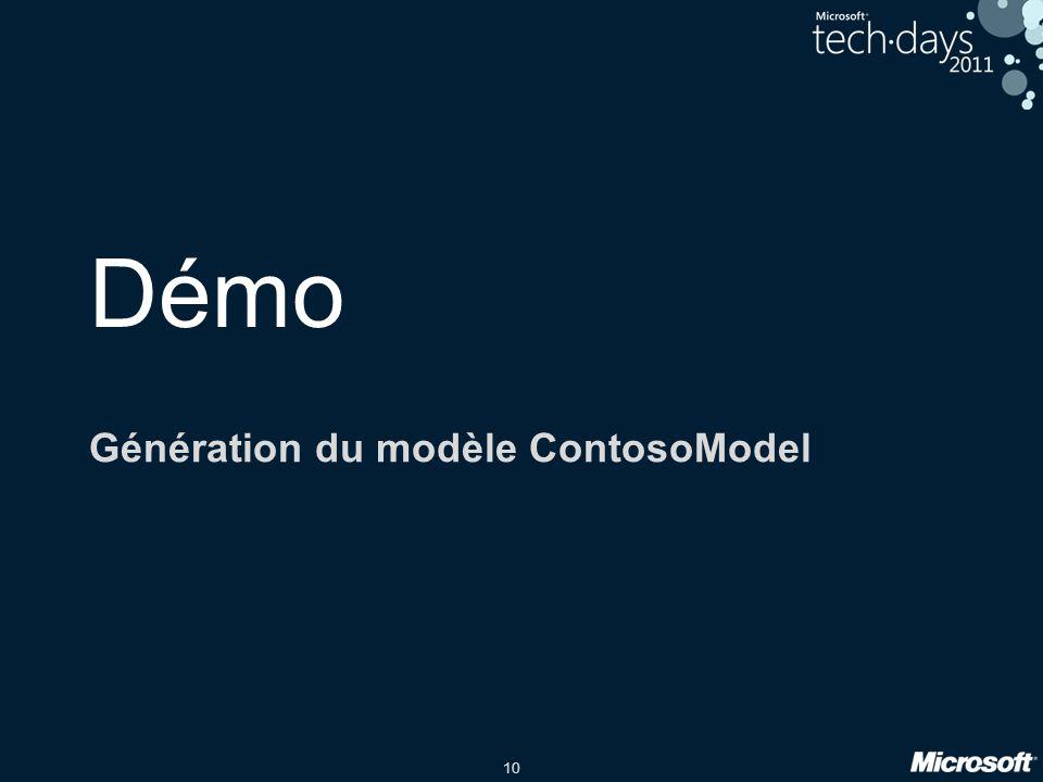 Génération du modèle ContosoModel