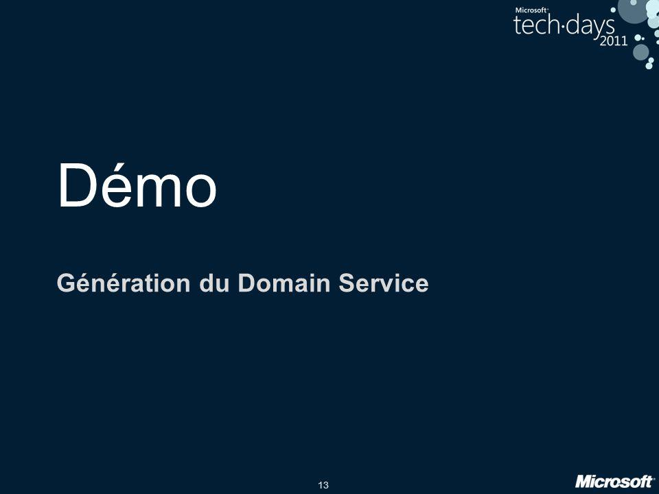 Génération du Domain Service