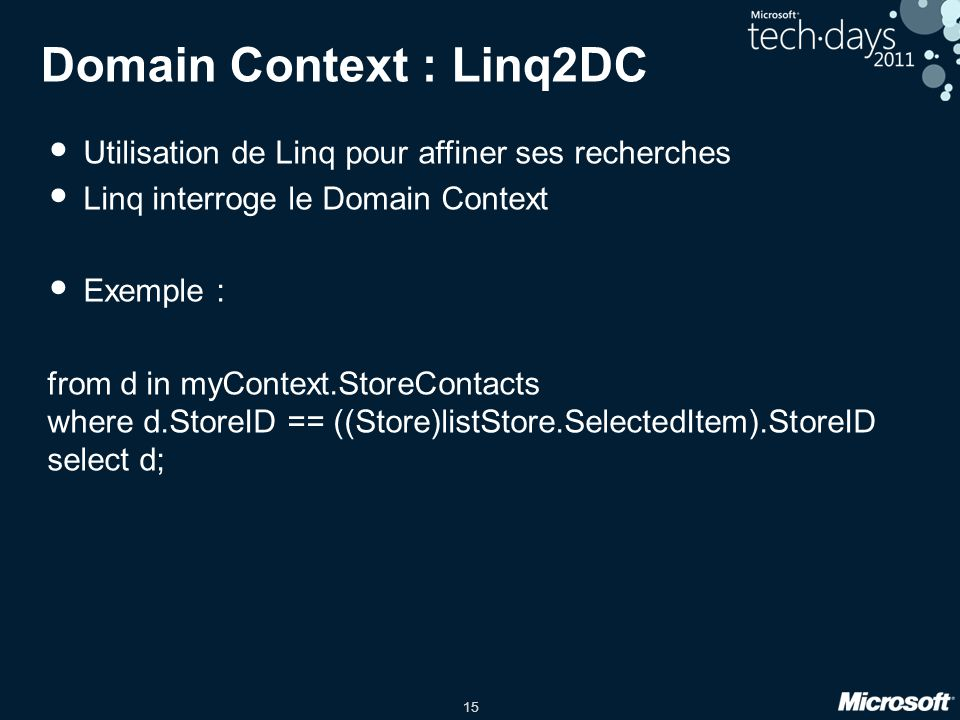 Domain Context : Linq2DC