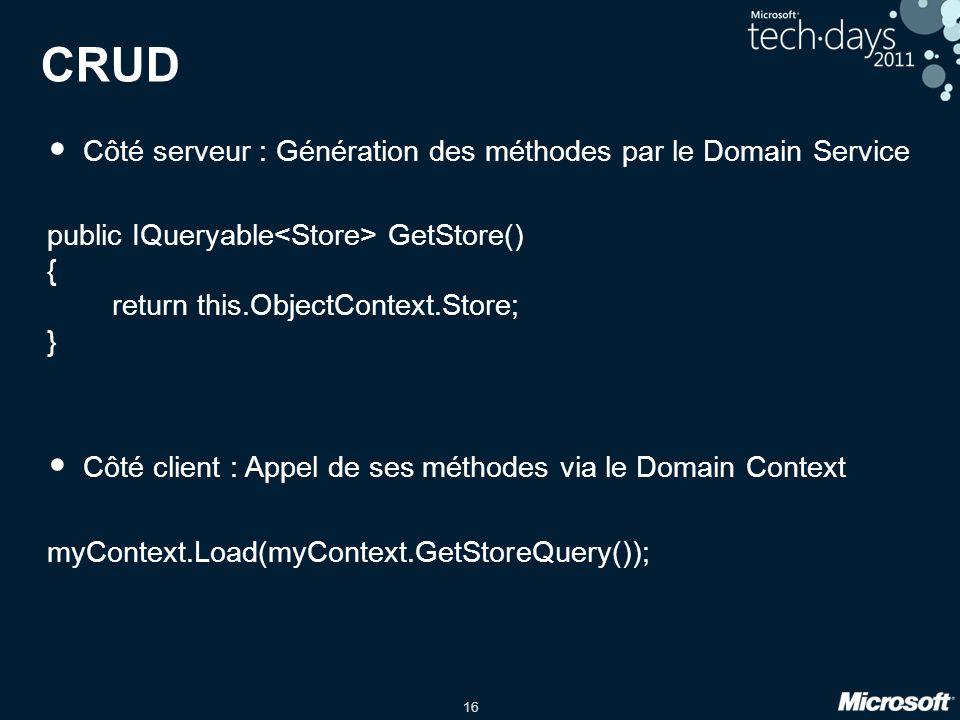 CRUD Côté serveur : Génération des méthodes par le Domain Service