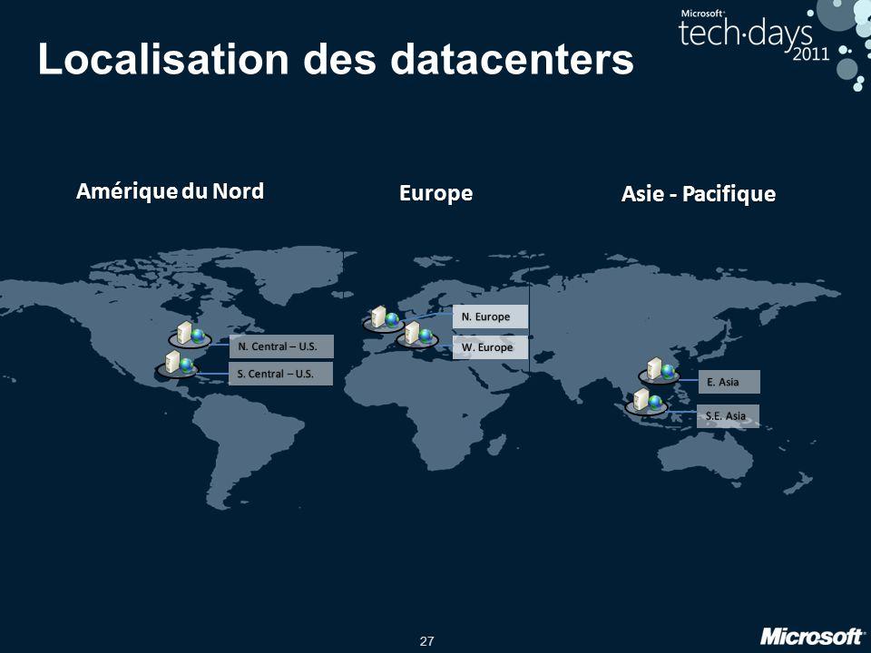 Localisation des datacenters