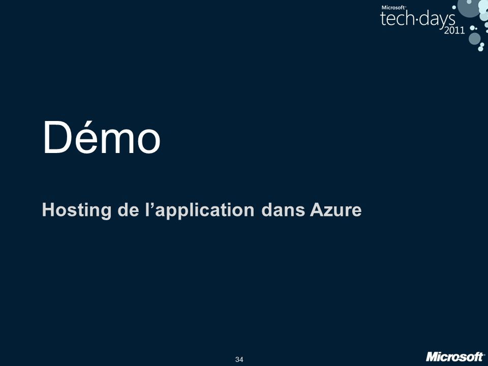 Hosting de l'application dans Azure