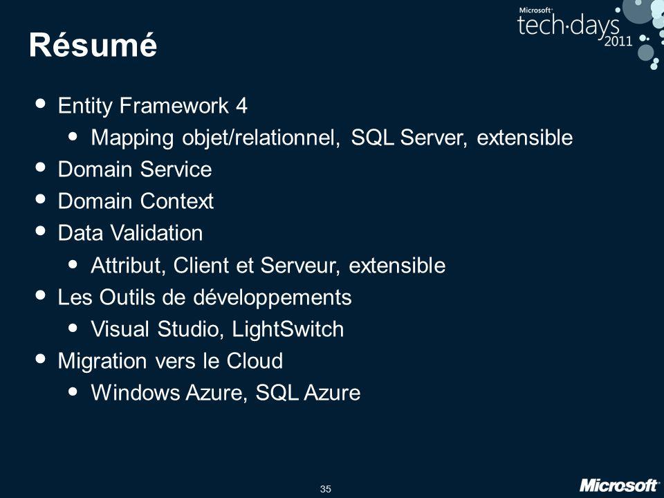 Résumé Entity Framework 4