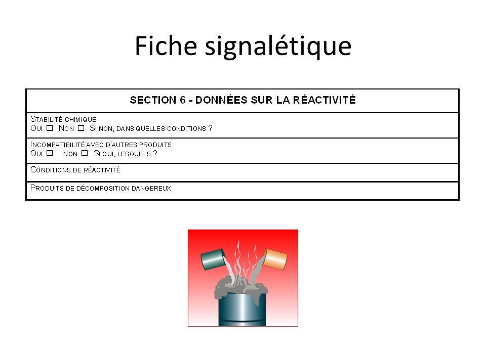 Fiche signalétique Pour le Varsol, on retrouve ces infos à la 5, section 8 : Réactivité