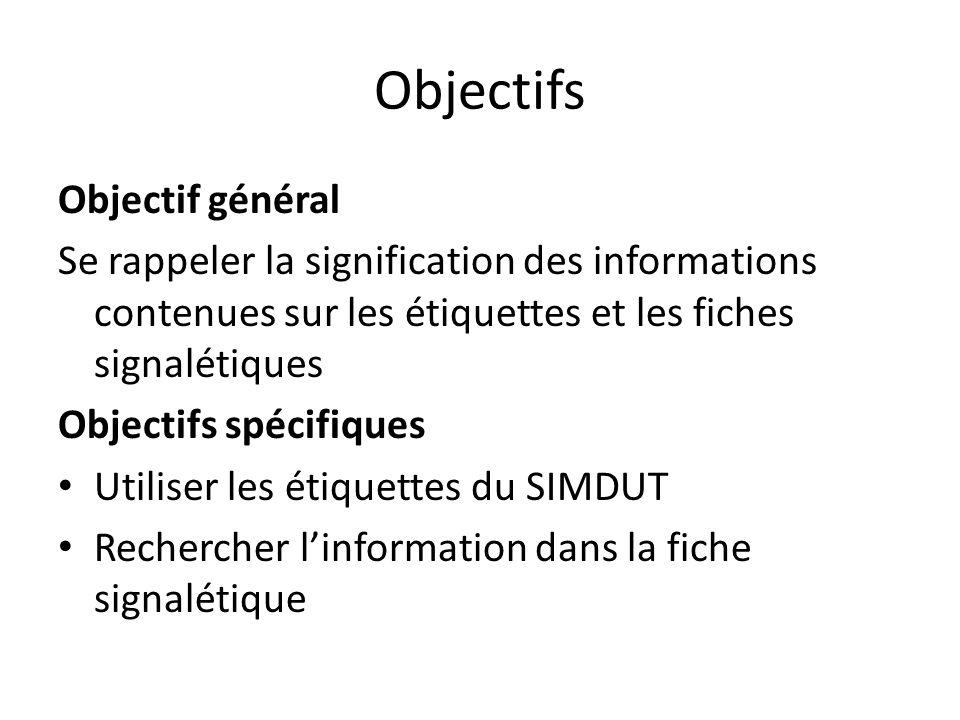 Objectifs Objectif général