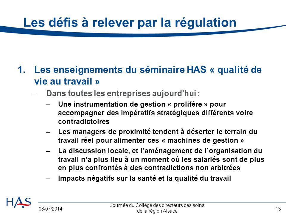 Les défis à relever par la régulation