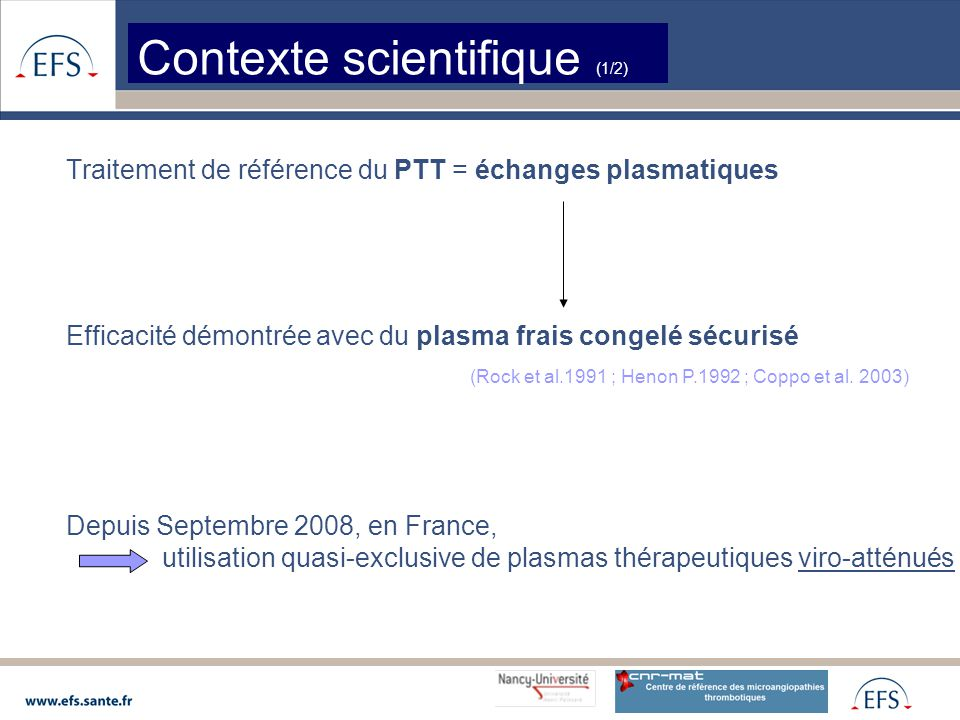 Contexte scientifique (1/2)
