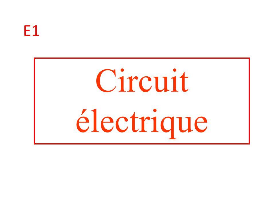 E1 Circuit électrique