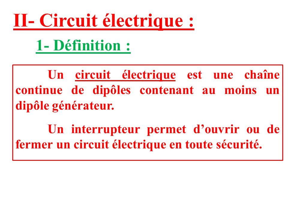 II- Circuit électrique :