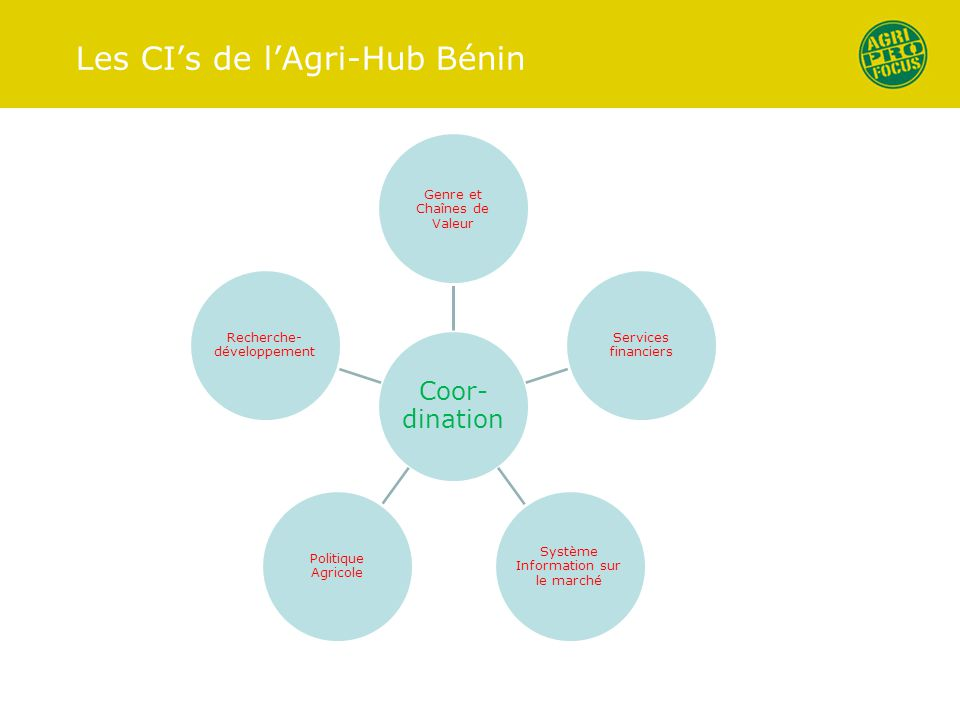 Les CI's de l'Agri-Hub Bénin