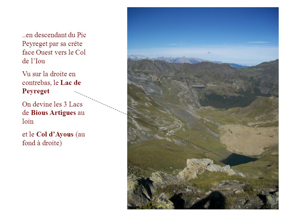 ..en descendant du Pic Peyreget par sa crête face Ouest vers le Col de l'Iou