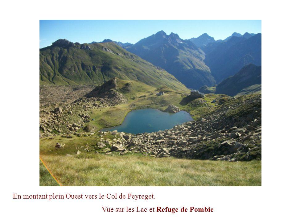 En montant plein Ouest vers le Col de Peyreget.
