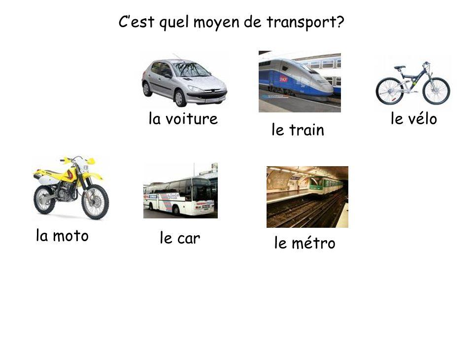 C'est quel moyen de transport