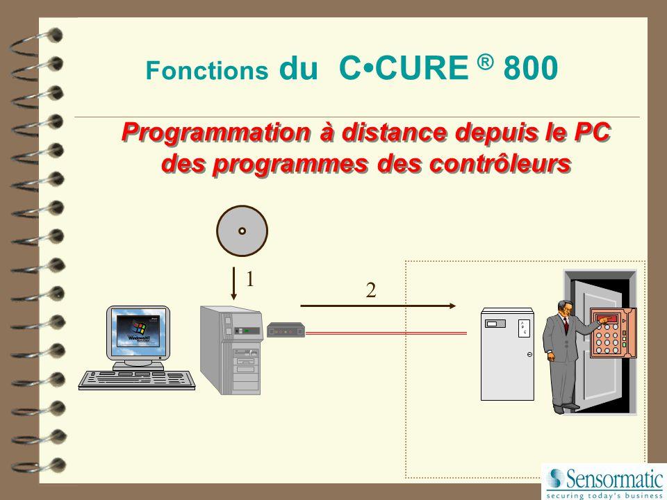 Programmation à distance depuis le PC des programmes des contrôleurs