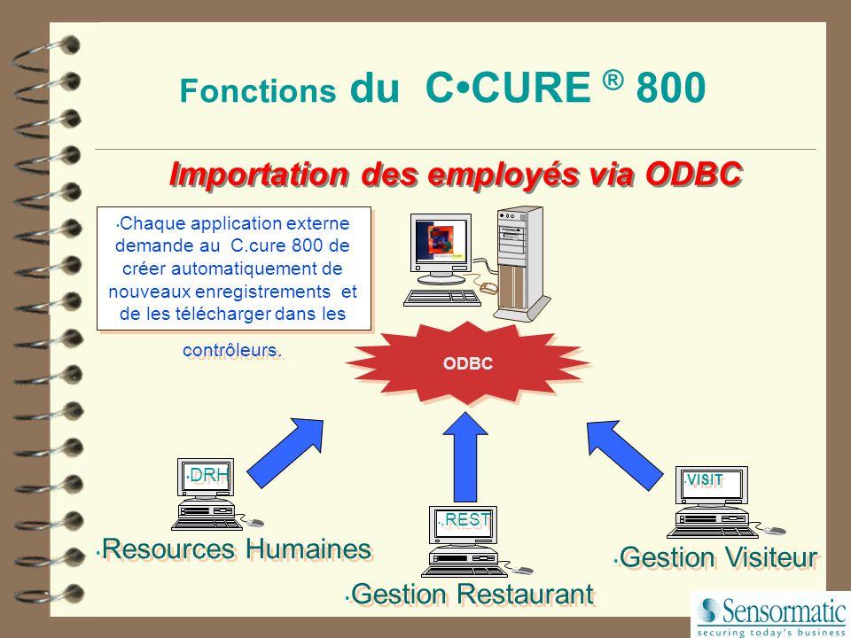 Importation des employés via ODBC