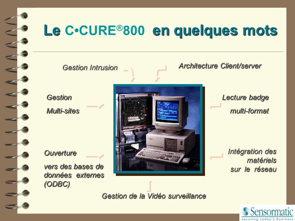 Le C•CURE®800 en quelques mots