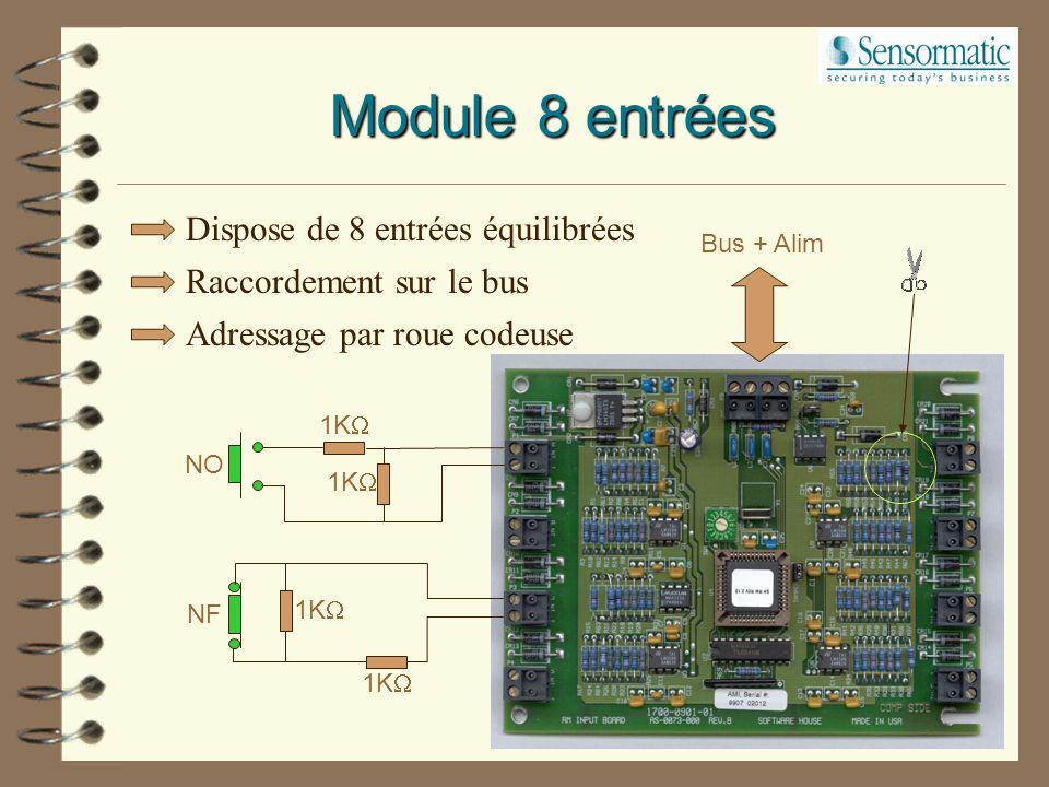 Module 8 entrées Dispose de 8 entrées équilibrées