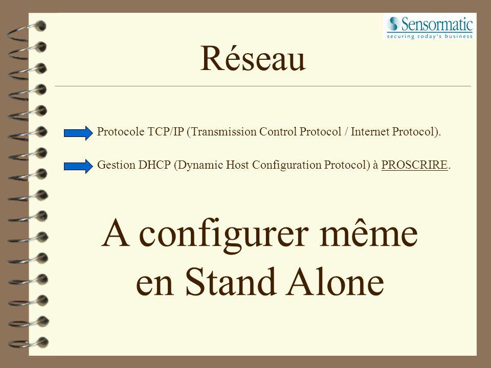 A configurer même en Stand Alone