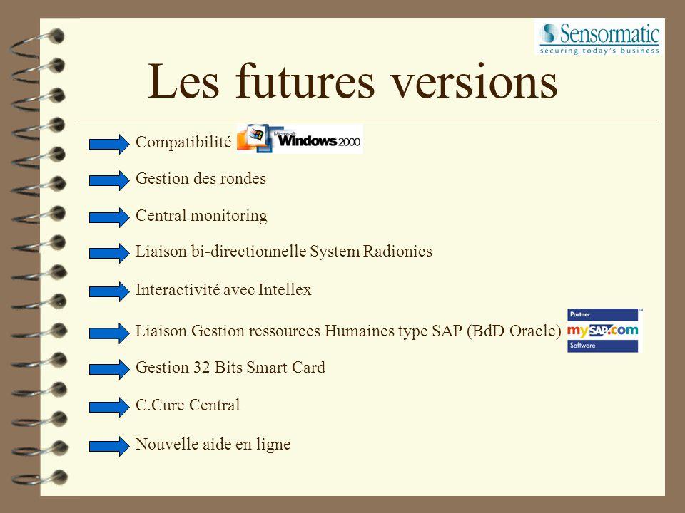 Les futures versions Compatibilité Gestion des rondes