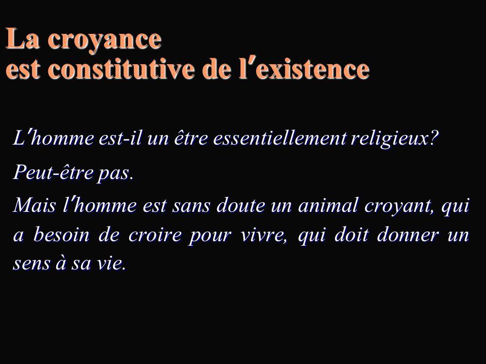 La croyance est constitutive de l'existence