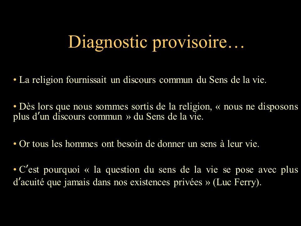 Diagnostic provisoire…