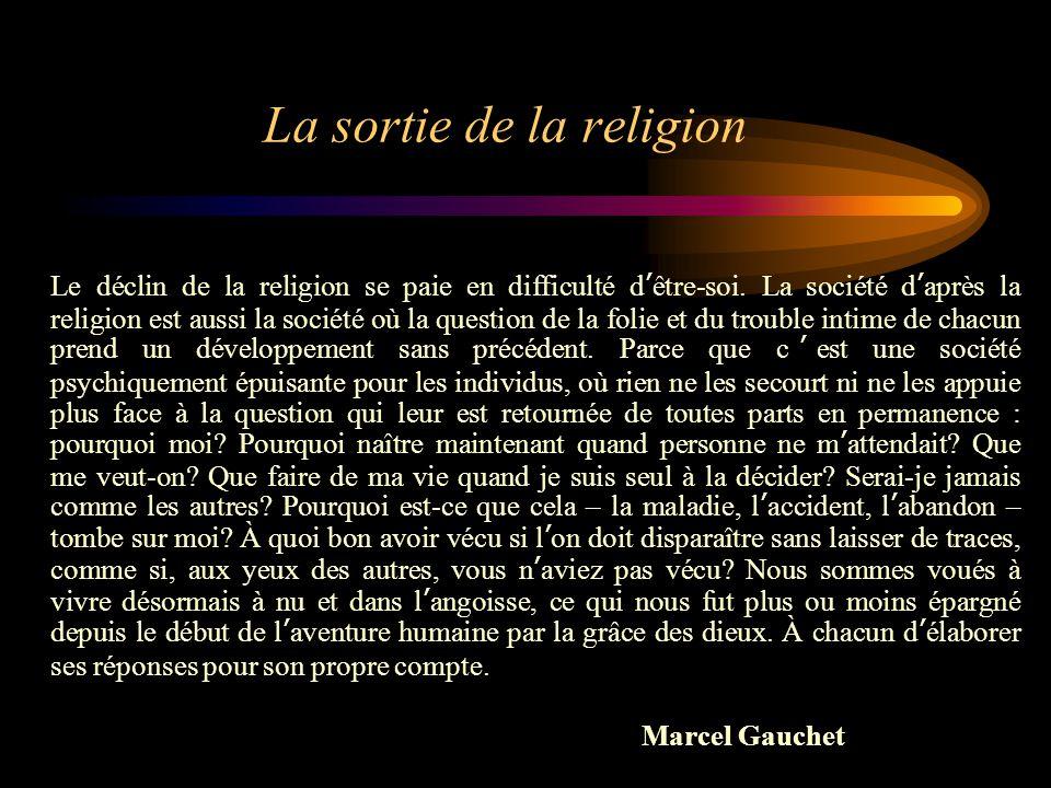 La sortie de la religion
