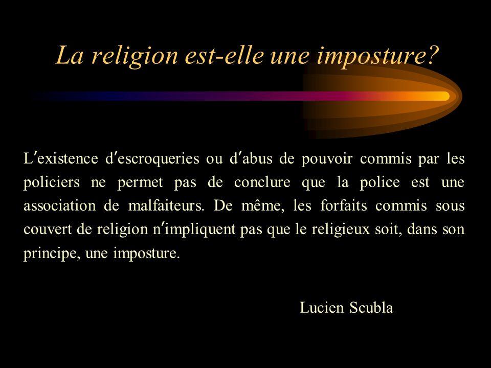La religion est-elle une imposture