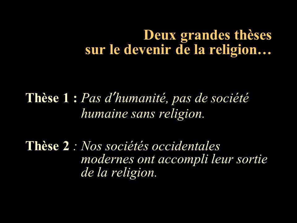Deux grandes thèses sur le devenir de la religion…