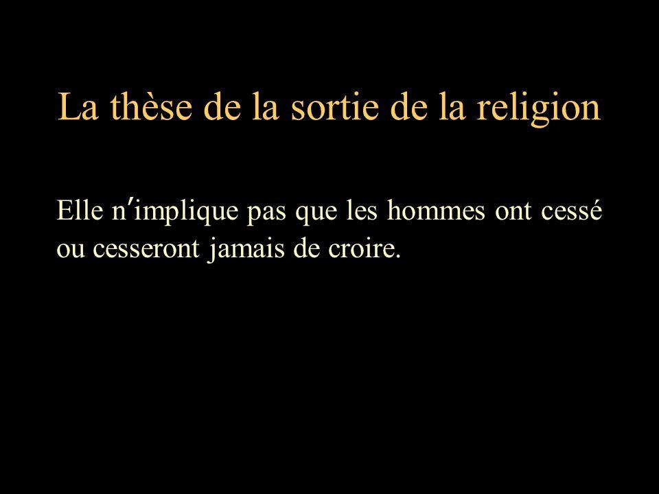 La thèse de la sortie de la religion