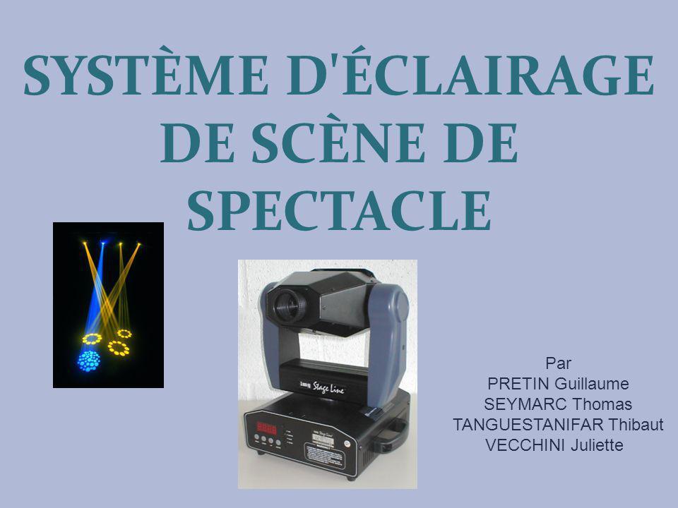 SYSTÈME D ÉCLAIRAGE DE SCÈNE DE SPECTACLE