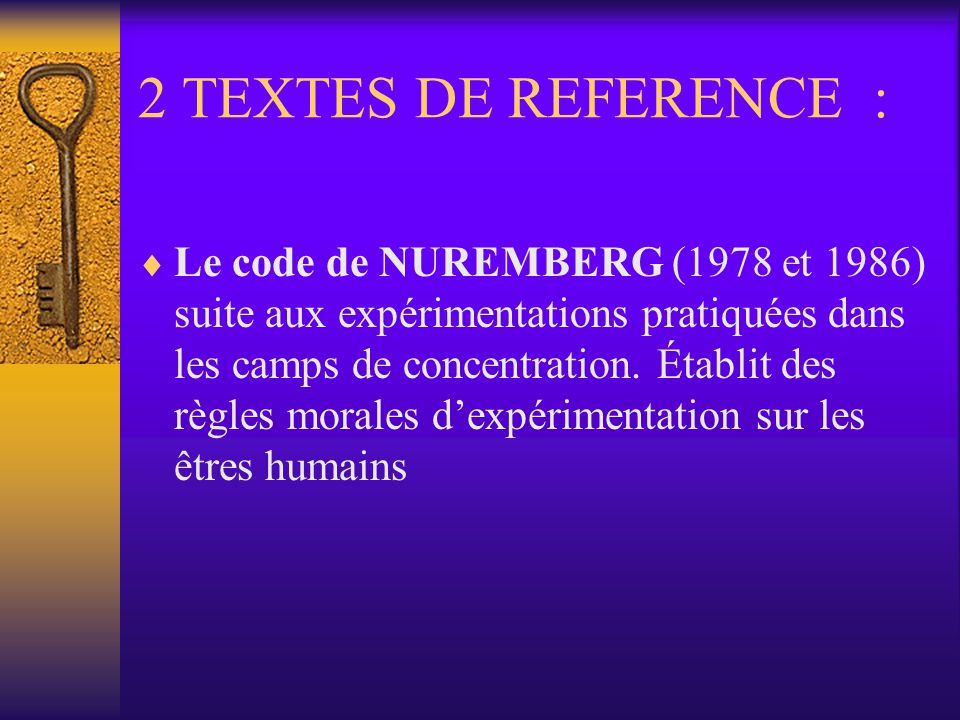 2 TEXTES DE REFERENCE :