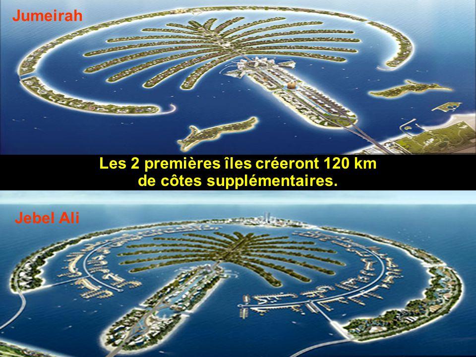 Les 2 premières îles créeront 120 km de côtes supplémentaires.