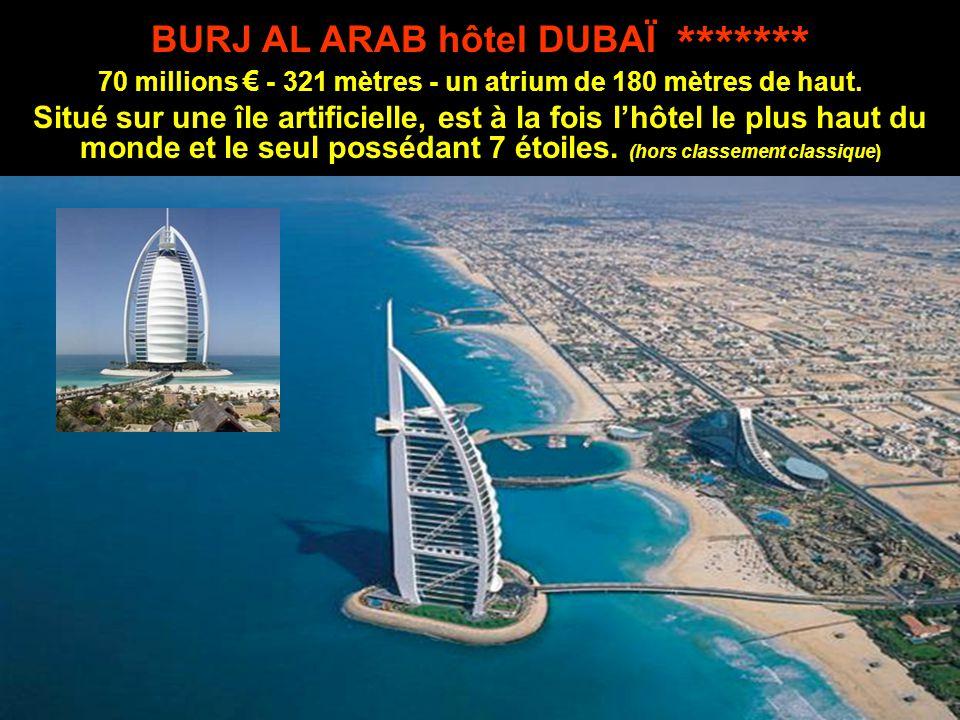BURJ AL ARAB hôtel DUBAÏ *******