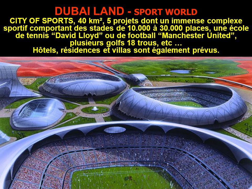 DUBAI LAND - SPORT WORLD