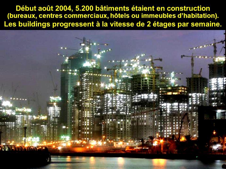 Les buildings progressent à la vitesse de 2 étages par semaine.