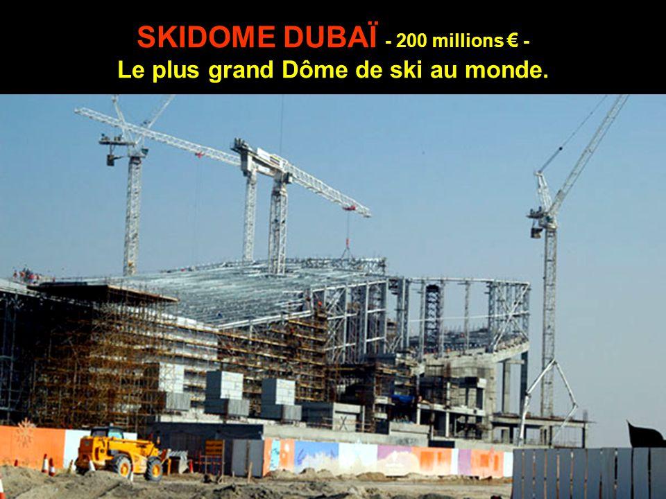 SKIDOME DUBAÏ - 200 millions € - Le plus grand Dôme de ski au monde.